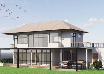 Single house with double garage concept design by Phuket Home Solutions