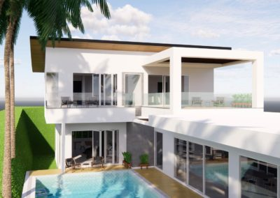Large 2 storey pool villa concept design by Phuket Home Solutions