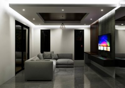 Open plan living room concept showcasing window and door positioning by Phuket Home Solutions