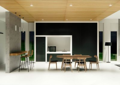 Dining area concept including breakfast bar by Phuket Home Solutions