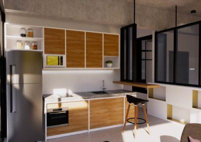 Open plan condo design concept by Phuket Home Solutions