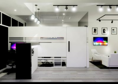 Reception are concept for office build by Phuket Home Solutions